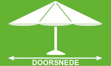 parasol doorsnede tekening